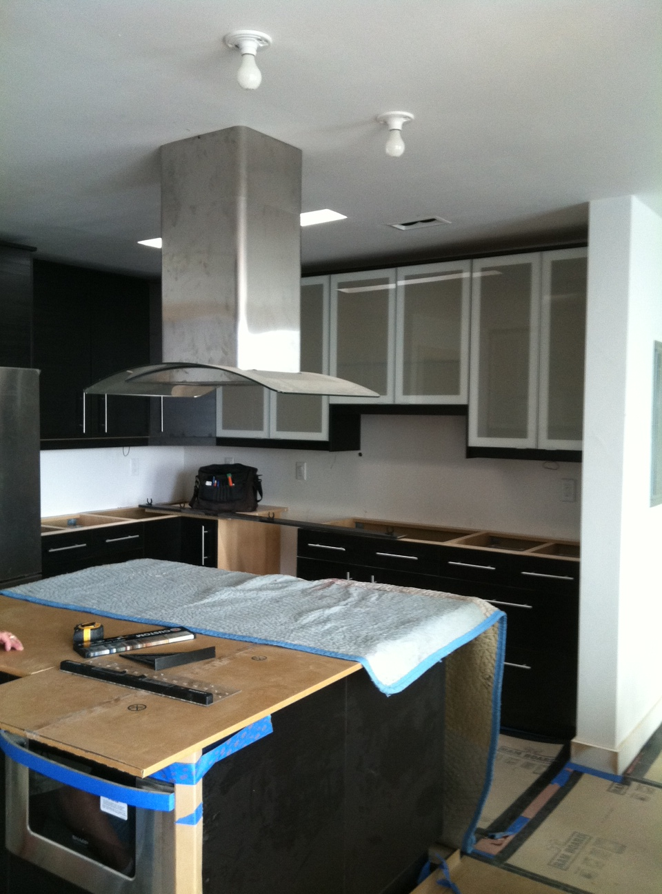 The kitchen is taking shape